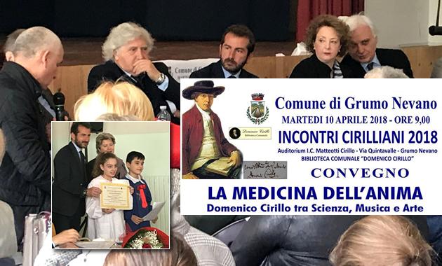 """Grumo Nevano: QUESTA MATTINA, convegno """"LA MEDICINA DELL'ANIMA"""" Domenico Cirillo tra Scienza, Musica e Arte"""
