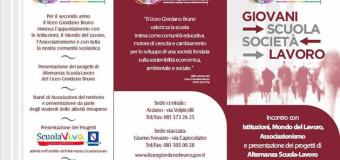 """GRUMO NEVANO, Liceo Giordano Bruno , II edizione """"NOTTE SOTTO LE STELLE"""" incontro con Istituzioni locali, rappresentanti del mondo del lavoro,associazionismo."""