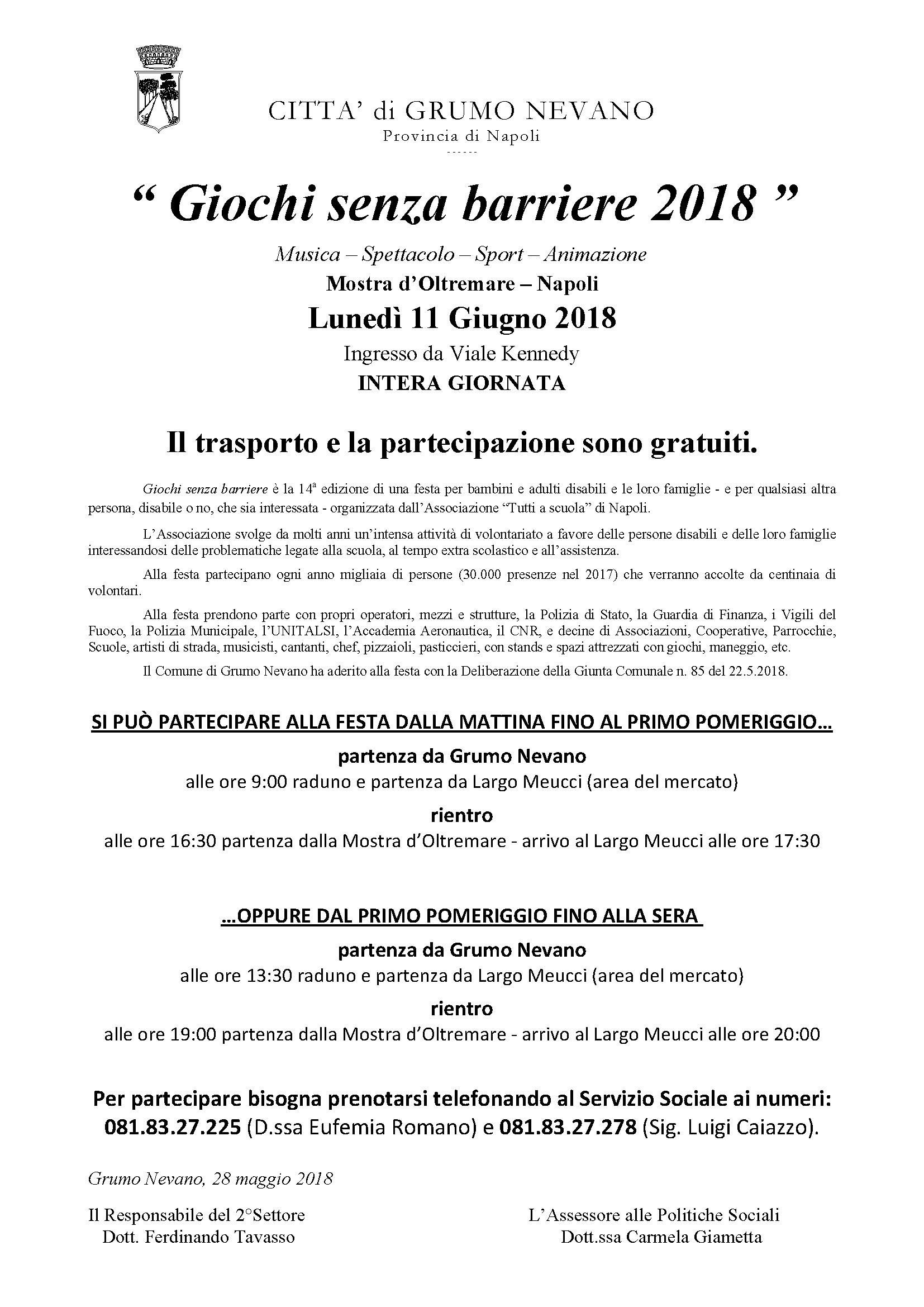 manifesto Giochi senza barriere 2018 da affiggere il 28_5_2018