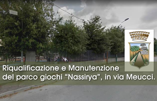 """Grumo Nevano, PARCO GIOCHI """"Nassirya"""", in via Meucci. DELIBERATA IN GIUNTA, la Riqualificazione e la Manutenzione Straordinaria"""