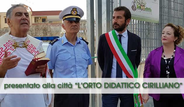 Grumo Nevano, Cerimonia di presentazione ORTO DIDATTICO CIRILLIANO, i ringraziamenti del Sindaco f.f. dott.Carmine D'aponte
