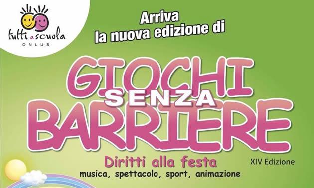 """Grumo Nevano aderisce alla festa """"Giochi Senza Barriere"""" che si terrà lunedì 11 giugno 2018 a Napoli alla Mostra d'Oltremare."""