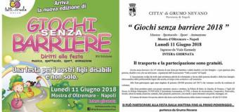 Grumo Nevano, 14° edizione GIOCHI SENZA BARRIERE – Consulta le modalità di partecipazione