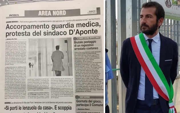 Grumo Nevano, ACCORPAMENTO GUARDIA MEDICA, PROTESTA DEL SINDACO D'APONTE