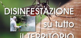 Orta di Atella, 20 LUGLIO 2018 ore 22.00, PROGRAMMATO INTERVENTO DI DISINFESTAZIONE SU TUTTO IL TERRITORIO COMUNALE