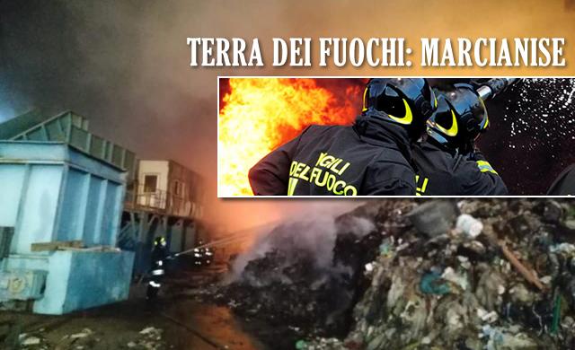 **ULTIMISSIMA** MARCIANISE Fiamme nella Terra dei Fuochi: bruciano montagne di spazzatura