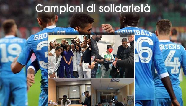 Il grande cuore di Koulibaly e Ghoulam, regali in ospedale ai bimbi malati di Napoli