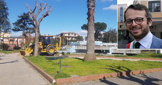 Frattamaggiore: Villa Comunale in via Biancardi, partono i lavori di riqualificazione.