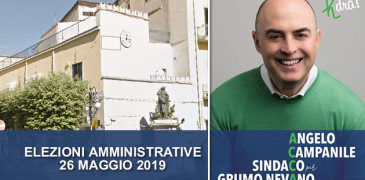 Grumo Nevano, Angelo CAMPANILE candidato a SINDACO alle prossime AMMINISTRATIVE 2019.