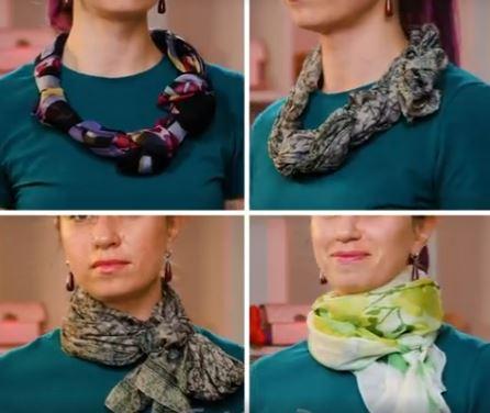 TANTE Idee per indossare la sciarpa…VEDI IL VIDEO