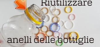 2 idee BRILLANTI per RIUTILIZZARE ANELLI delle BOTTIGLIE di PLASTICA (2019) riciclo creativo tutorial