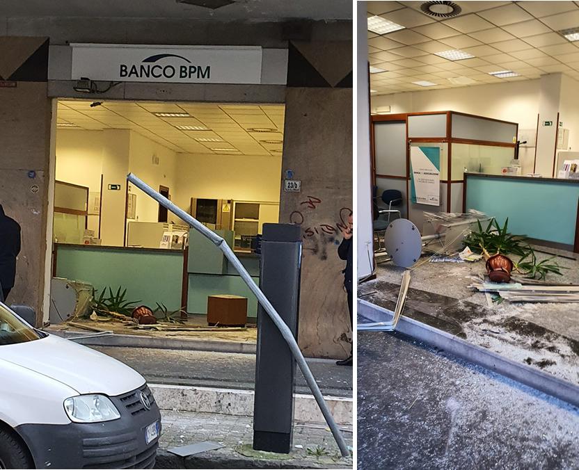 Grumo Nevano: Furto questa notte alla Banca Popolare di Novara in Corso Cirillo