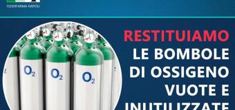 """Appello del Sindaco di FRATTAMAGGIORE: """"Se avete in casa bombole di ossigeno vuote o inutilizzate, per piacere restituitele in farmacia."""""""